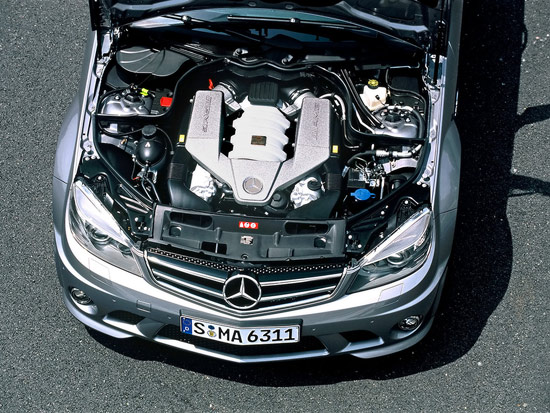 Mercedes C AMG engine