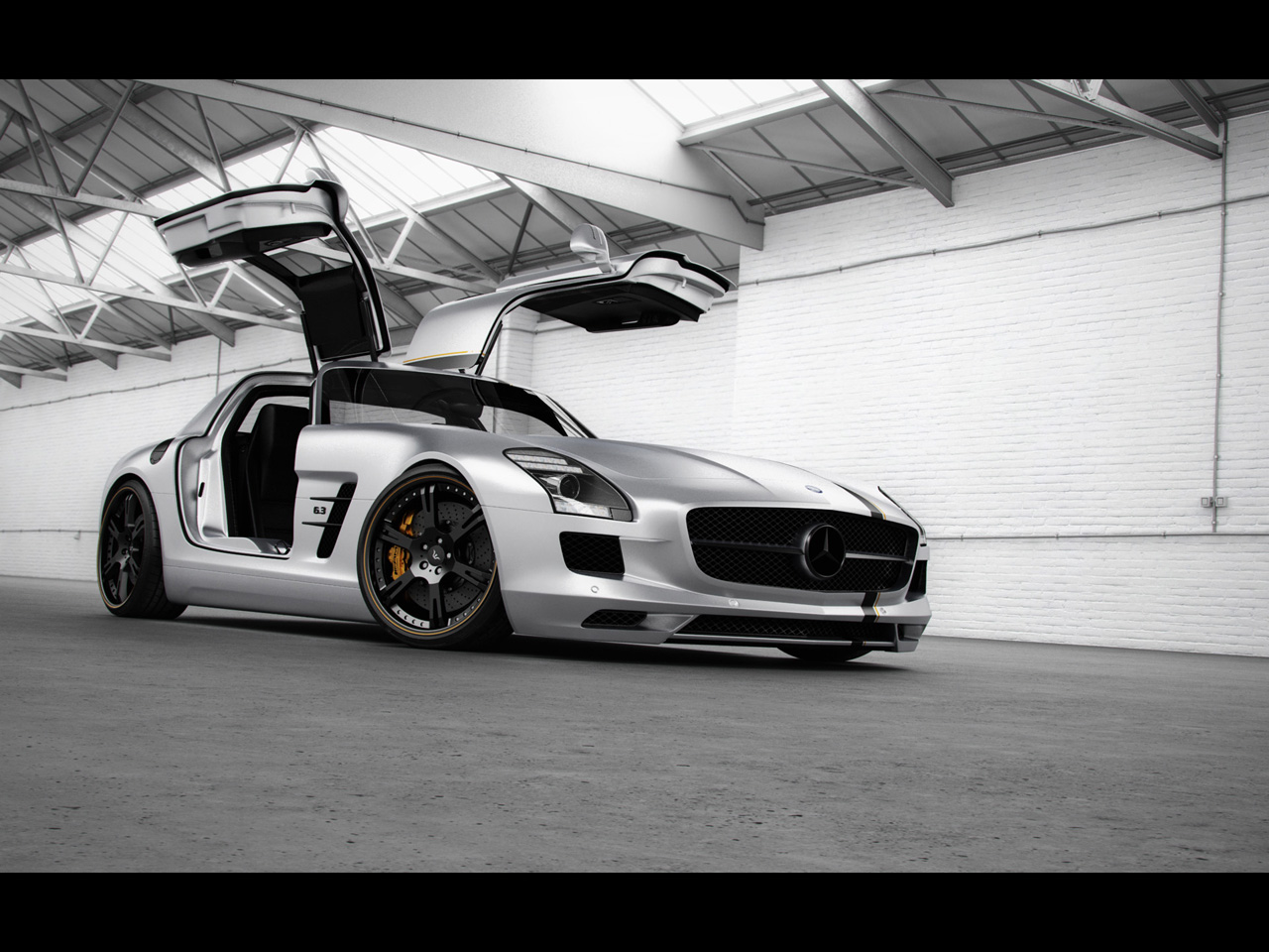 2012 wheelsandmore mercedes benz sls amg silver wing front and side mercedes tuning mag. Black Bedroom Furniture Sets. Home Design Ideas