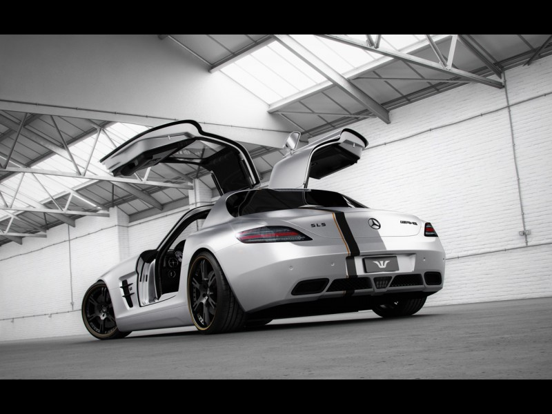 2012-Wheelsandmore-Mercedes-Benz-SLS-AMG-Silver-Wing-Rear-And-Side