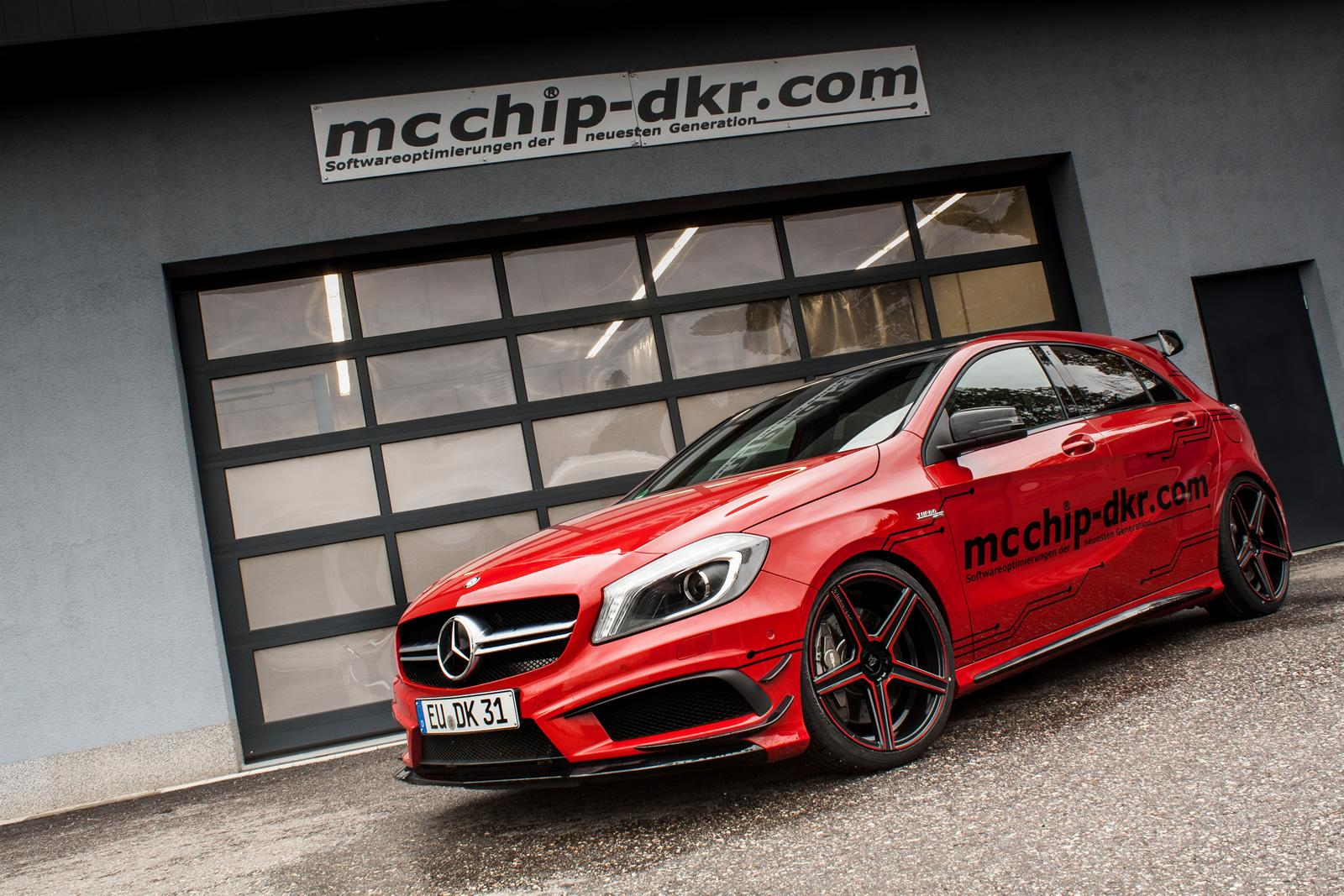 mercedes benz a45 amg tuned by mcchip dkr. Black Bedroom Furniture Sets. Home Design Ideas