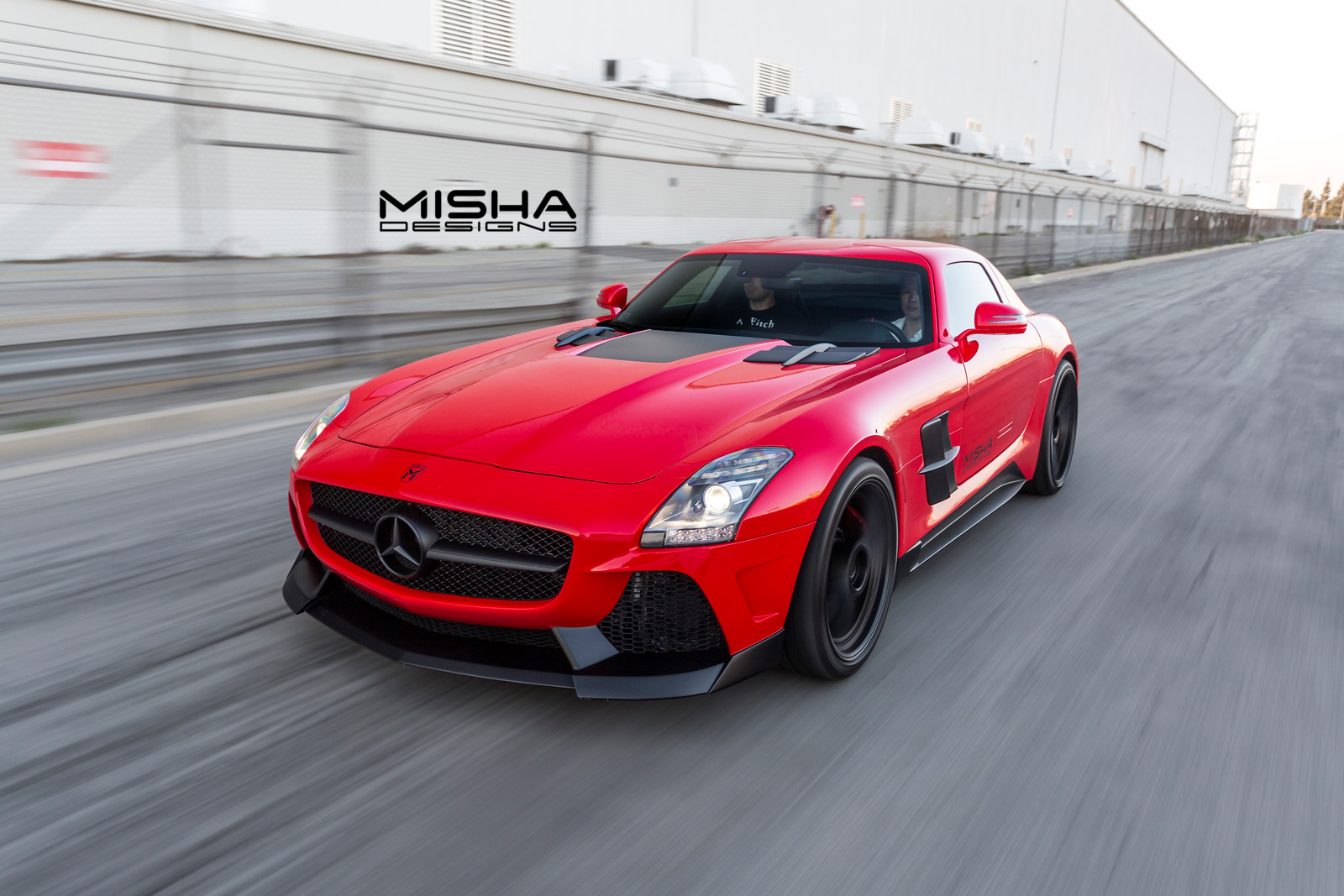 Mercedes sls body kit by misha designs for Mercedes benz amg kit