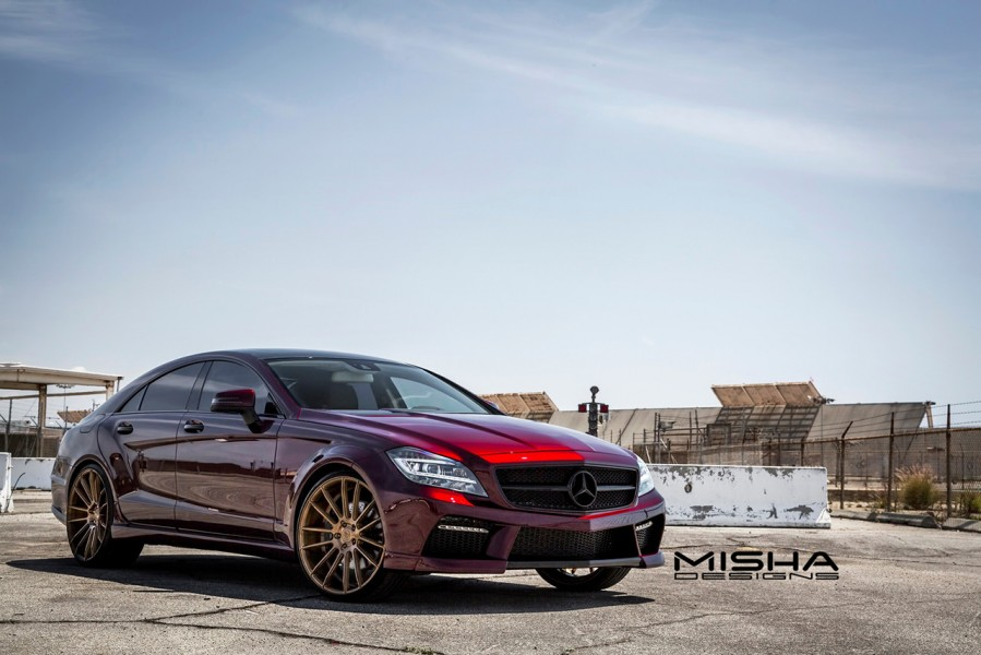 Mercedes-cls-body-kit-misha-designs-burgundy-1