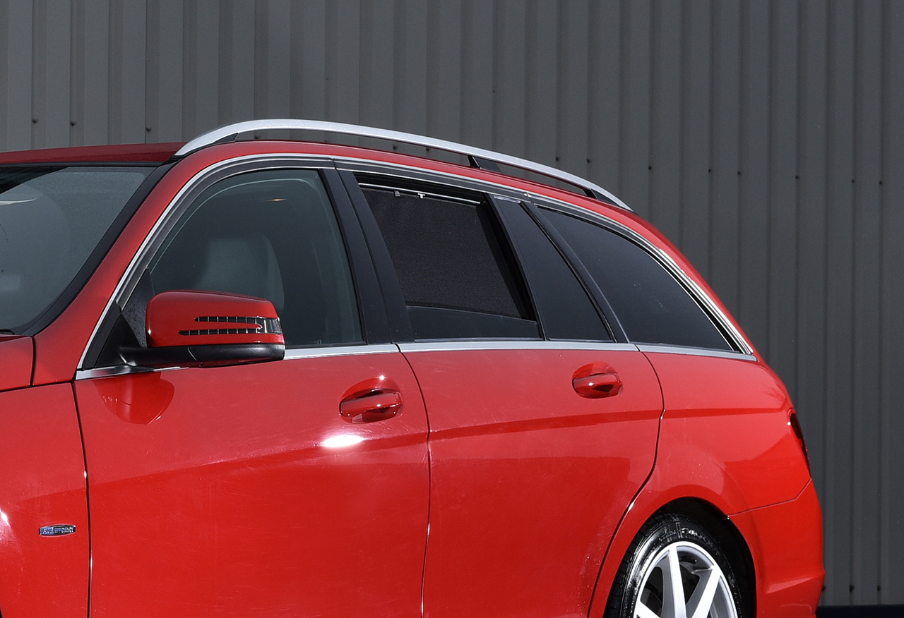 Car shades launches w204 mercedes c class estate fitment for Mercedes benz shades